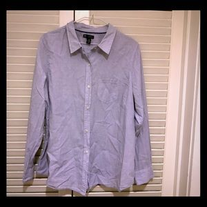 Gap Blue Boyfriend Fit Buttondown